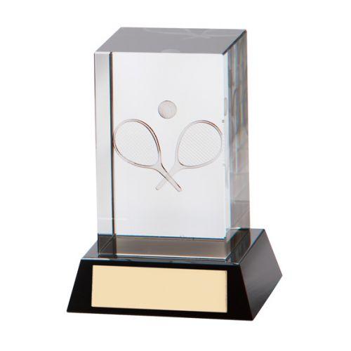 Conquest 3D Tennis Crystal Trophy Award 90mm