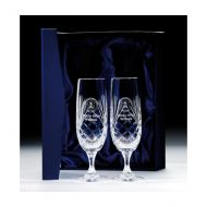 Lindisfarne Orco Crystal Champagne Glasses 280mm