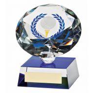 Diamond Spirit Crystal Golf Trophy Award 100mm
