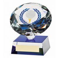Diamond Spirit Crystal Golf Trophy Award 100mm