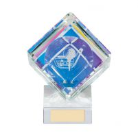 Victorious Golf Cube Crystal Trophy Award 90mm
