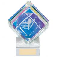 Victorious Golf Cube Crystal Trophy Award 130mm