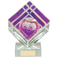 Victorious Lawn Bowls Cube Crystal Trophy Award 150mm