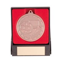 Starboot Economy Football Trophy Award Medal and Box Bronze 50mm