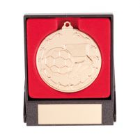 Starboot Economy Football Trophy Award Medal and Box Gold 50mm