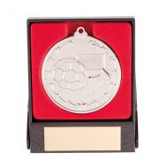 Starboot Economy Football Trophy Award Medal and Box Silver 50mm