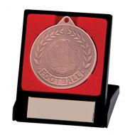 Discovery Football Trophy Award Medal & Box Bronze 50mm