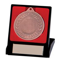 Discovery Football Trophy Award Medal and Box Bronze 50mm