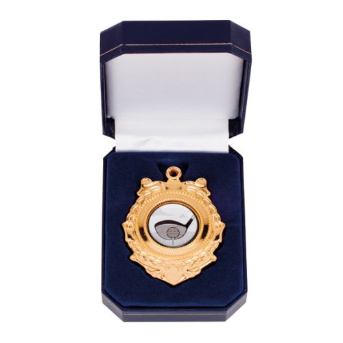 Triumph Medal In Box Gold 90mm