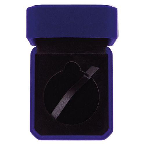 Aspire Velour Medal Box Blue 40x70mm : New 2019