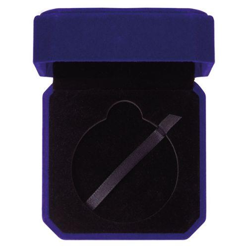 Aspire Velour Medal Box Blue 45x90mm : New 2019