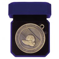 Olympia Football Boot Medal Box Antique Gold 70mm : New 2019