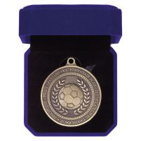 Olympia Football Medal Box Antique Gold 60mm : New 2019