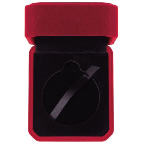 Aspire Velour Medal Box Burgundy 50mm : New 2020