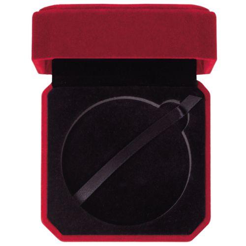 Aspire Velour Medal Box Burgundy 70mm : New 2020