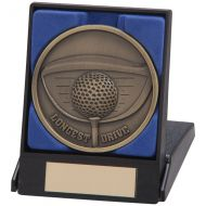 Links Series Longest Drive Medal and Box 70mm