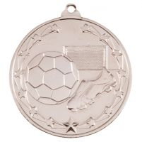Starboot Economy Football Trophy Award Medal Silver 50mm