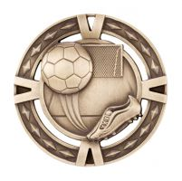 V-Tech Series Medal - Boot and Ball Gold 60mm
