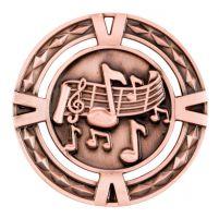 V-Tech Series Medal - Music Bronze 60mm