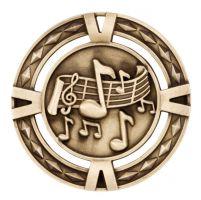 V-Tech Series Medal - Music Gold 60mm
