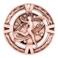 V-Tech Series Medal - Dancing Bronze 60mm