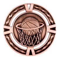 V-Tech Series Medal - Basketball Bronze 60mm