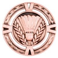 V-Tech Series Medal - Badminton Bronze 60mm