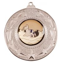 Star Burst Medal Series Silver 50mm