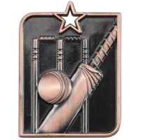 Centurion Star Series Cricket Medal Bronze 53x40mm