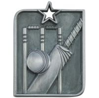 Centurion Star Series Cricket Medal Silver 53x40mm