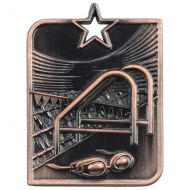 Centurion Star Series Swimming Medal Bronze 53x40mm