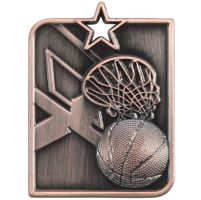 Centurion Star Series Basketball Medal Bronze 53x40mm