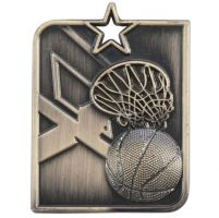 Centurion Star Series Basketball Medal Gold 53x40mm