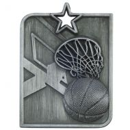 Centurion Star Series Basketball Medal Silver 53x40mm
