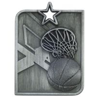 Centurion Star Series Basketball Medal Silver 53x40mm