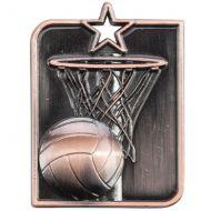 Centurion Star Series Netball Medal Bronze 53x40mm