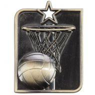 Centurion Star Series Netball Medal Gold 53x40mm