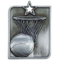 Centurion Star Series Netball Medal Silver 53x40mm