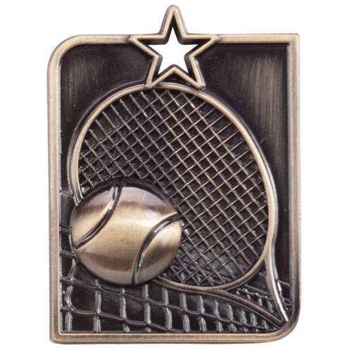 Centurion Star Series Tennis Medal Gold 53x40mm
