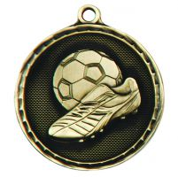 Power Boot Medal Antique Gold 50mm