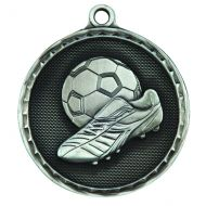 Power Boot Medal Antique Silver 50mm