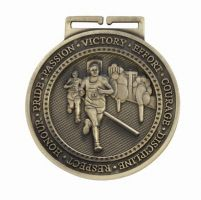 Olympia Running Medal Antique Gold 60mm