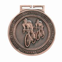 Olympia Cycling Medal Antique Bronze 60mm