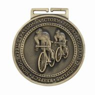 Olympia Cycling Medal Antique Gold 60mm