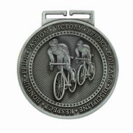 Olympia Cycling Medal Antique Silver 60mm