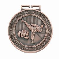 Olympia Karate Medal Antique Bronze 70mm