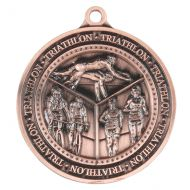 Olympia Triathlon Medal Antique Bronze 60mm