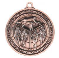Olympia Triathlon Medal Antique Bronze 60mm