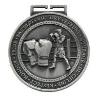 Olympia Boxing Medal Antique Silver 70mm