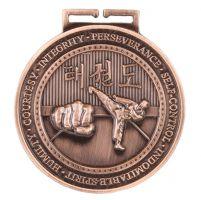 Olympia Taekwondo Medal Antique Bronze 70mm
